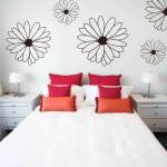 Large Floral Wall Vinyl Decals Stic..