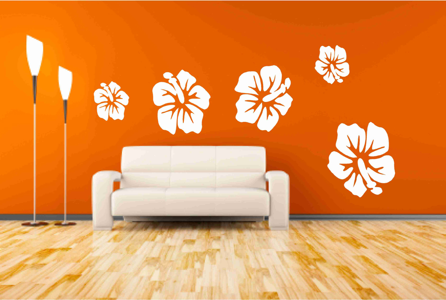 Hibiscus Flower Wall Decals On Luulla