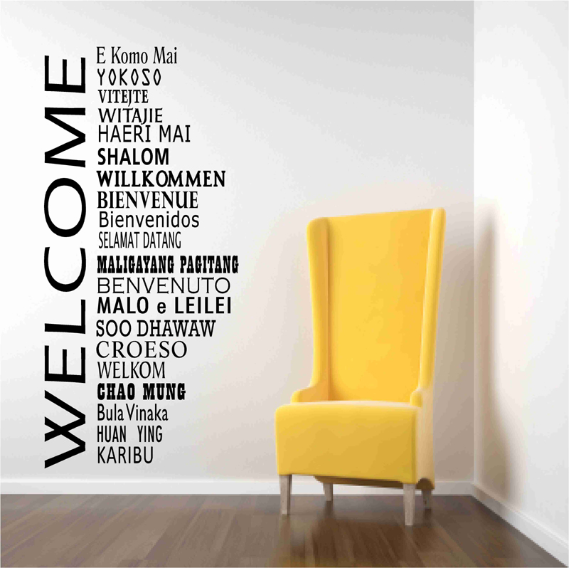 Welcome Decals In International Languages on Luulla