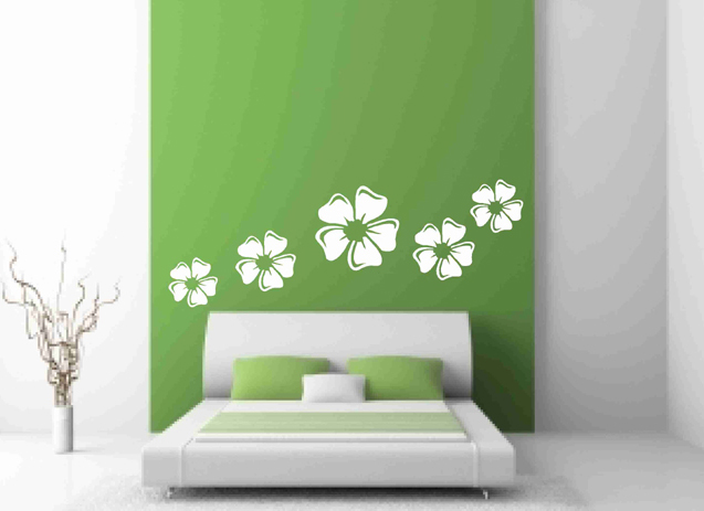 white flowers wall decals on luulla