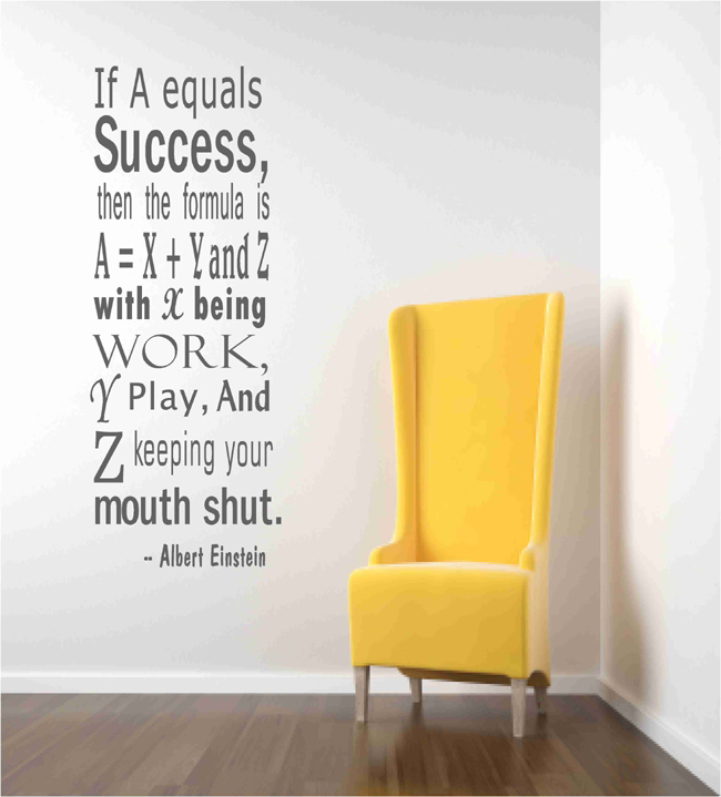 wall decal quotes - einstein success quote wall decals on luulla