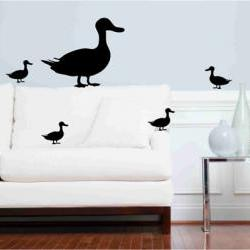 Mother Duck and Ducklings Wall Decals/Stickers