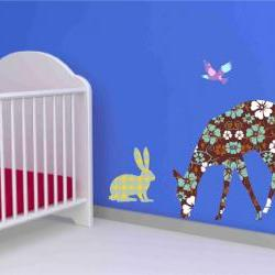 Deer, Rabbit and Squirrel Wall Decals Stickers