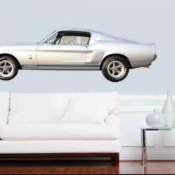 Muscle Car 1967 Shelby Mustang GT 350 Wall Art/ Vinyl Sticker